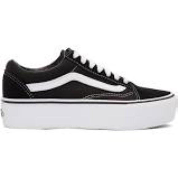 Vans Shoes   Platform Van Black And